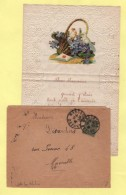 Lettre Type Valentine - Marseille - 31-12-1917 - Postmark Collection (Covers)