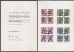 """Bund: Minister Card, Ministerkarte Typ V,VB Bund U. Berlin, """" Wohlfahrt U. Weihnachten 1970 - Marionetten """" RR!!  X - BRD"""