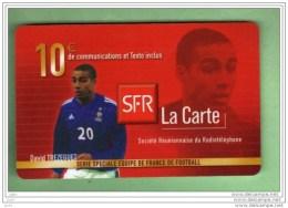 SFR 10€ - REUNION *** Equipe De France D.TREZEGUET *** (A2-P8)