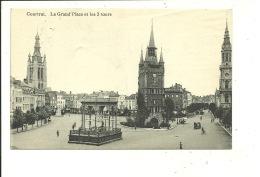Kortrijk Coutrai La Grand Place Et Les 3 Tours - Kortrijk
