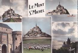 Le Mont Saint Michel Multivues Le Mont Et Les Présalés Le Mont Et La Digue A Marée Haute La Tour Gabriel La Porte Du Roy - Le Mont Saint Michel