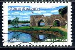 ADHESIF  OBLITERE - France