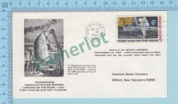 Illustrated Envelope  : Commemorating America`s 2 Rd Manned Landing On The Moon  - Cover Cap Canaveral FL. 1969 - Etats-Unis