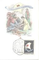 CRUZ ROJA NACIONAL  1959  TARJETA 1º DIA DE EMISION  ARGENTINA  CROCE ROSSA RED CROSS CROIX ROUGE - Red Cross