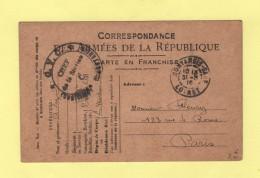 GCV Montargis - Loiret - 1916 - Postmark Collection (Covers)