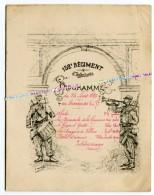PROGRAMME MUSIQUE - CONCERT / 152e RI ( LANGRES / EPINAL ) / AOUT 1895 / CAPITAINE D' OLCE / 152e REGIMENT D' INFANTERIE - Documenti