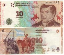 "ARGENTINA    New 10 Pesos   ""JUST  ISSUED""   2016 - Argentine"