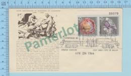 Illustrated Envelope  : Sam Gilson Discovering Gilsonite  - Cover Utapex Station Salt Lake City UT. 1984 - Minéraux