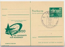 ESPERANTO DDR P79-4c-80 C105-a Postkarte ZUDRUCK DRUCKVERSCHIEBUNG Leipzig 1980 - Esperanto