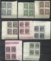 VATICANO VATICAN VATIKAN 1945 MEDAGLIONCINI STEMMA EFFIGIE PAPA PIO XII SERIE COMPLETA COMPLETE SET MNH - Vatican