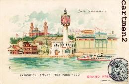 CARTE A SYSTEME CONTRE LA LUMIERE CARTE LUMINEUSE LEFEVRE-UTILE EXPOSITION PARIS 1900 PHARE 1900 HOLD-TO-LIGHT - Contre La Lumière