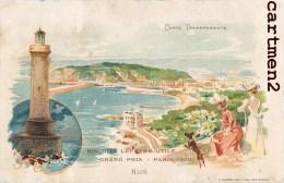 CARTE A SYSTEME CONTRE LA LUMIERE CARTE LUMINEUSE LEFEVRE-UTILE NICE 1900 HOLD-TO-LIGHT - Contre La Lumière