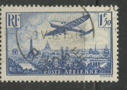 France 1936 1.50fr Plane Over Paris Issue #C9 - Airmail