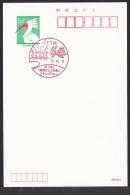 Japan Commemorative Postmark, Flower Dragonfly Ginkgo (jc9012) - Japan