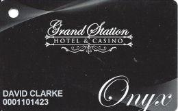 Grand Station Hotel & Casino Vicksburg, MS - Onyx Slot Card Copyright 2011 - Casino Cards