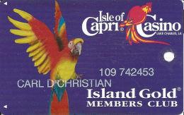Isle Of Capri Casino Lake Charles, LA Slot Card With 7 Casinos Listed On Back - Casino Cards