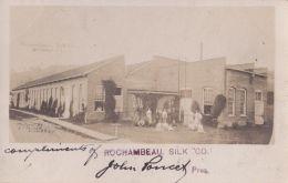 GREAT RPPC REAL PHOTO POSTCARD ROCHAMBEAU SILK CO ANDOVER NY 1906 - Altri