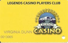 Legends Casino Toppenish WA Slot Card - Casino Cards