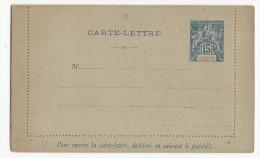 OBOCK - 1892 - CARTE LETTRE ENTIER POSTAL De OBOCK - Obock (1892-1899)