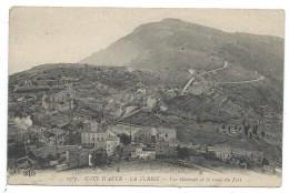 CPA  - LA TURBIE VUE GENERALE ET LA ROUTE DU FORT - 06 - Circulé 1914 - Tampon : Ier Régiment Territorial D' Artillerie - La Turbie
