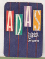 Romanian Small Calendar - 1965 ADAS Insurance Company - Petit Format : 1961-70