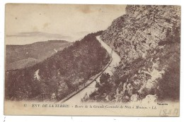 CPA   - ENVIRONS DE LA TURBIE, ROUTE DE LA GRANDE CORNICHE DE NICE A MENTON - Alpes Maritimes 06 - Ecrite - La Turbie