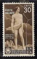 1936 Italia Italy Regno ORAZIO 30c Bruno (400) MH* - 1900-44 Vittorio Emanuele III