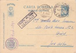 FREE MILITARY POSTCARD,STATIONERY,WW2,CENSORED,FPO#33,1941,ROMANIA. - Cartas De La Segunda Guerra Mundial