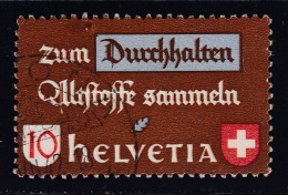 Schweiz 1942 Zu# 254.109 Abart Grosserfleck Altstoff - Suisse