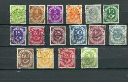 Bund Mi,          Posthorn  Kpl Gest     H1#1201 - [7] République Fédérale