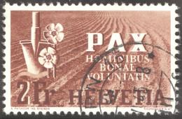 Schweiz 1945 Pax 2 Fr. Gestempelt Zu.# 271 Mi. # 456 - Suisse