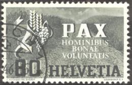 Schweiz 1945 Pax 80 Rp. Gestempelt Zu.# 269 Mi. # 454 - Suisse