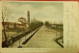 ROVIGO,TERRAGLIO S. FRANCESCO,SENT TO PADOVA,1908,ITALY - Rovigo