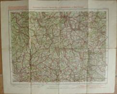 Würzburg 114 - 30cm X 40cm - 1:300'000 - Topographische Karte Des Kaiserlichen Automobil Clubs - Radfahrer Bund Und Radf - Topographische Karten