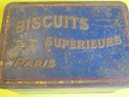 Boite Métallique Ancienne/Biscuits Supérieurs PARIS/ Avec Blason/ Vers 1920 BFPP73 - Boîtes