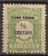 Timbres - Portugal - Cap Vert - 1921 - Taxe - Receber - 1/2 Reis - - Cap Vert