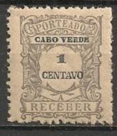 Timbres - Portugal - Cap Vert - 1921 - Taxe - Receber - 1 Reis - - Cap Vert