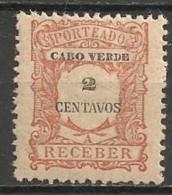 Timbres - Portugal - Cap Vert - 1921 - Taxe - Receber - 2 Reis - - Cap Vert