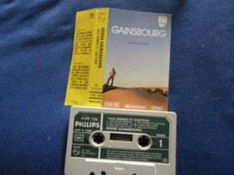 SERGE GAINSBOURG K7 AUDIO VOIR PHOTO...ET REGARDEZ LES AUTRES (PLUSIEURS) - Audio Tapes