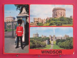 Angleterre - Windsor Castle - Vues Diverses - Joli Timbre - Scans Recto-verso