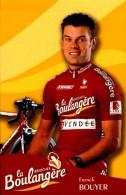FRANCK BOUYER...PALMARES AU DOS.....CPM.. - Ciclismo