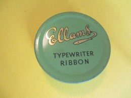 Boite Métallique/Machine à écrire/ Avec Ruban Neuf/ ELLAMS/Typewriter Ribbon/England/Vers 1960- 70     BFPP69 - Boîtes