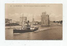 Cp , 17 , LA ROCHELLE , Tour De La Lanterne Et Chantiers De Construction , Voyagée 1912, Bateau - La Rochelle