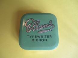 Boite Métallique/Machine à écrire/ Avec Ruban Neuf/ ELLAMS/Typewriter Ribbon/England/Vers 1960- 70     BFPP68 - Boxes