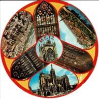 METZ - La Cathédrale - Carte Ronde - Metz