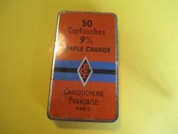 Boite Métallique/Cartoucherie Française/Paris /50 Cartouches 9 Mm/ France /Vers 1950 - 1960   BFPP66 - Scatole