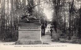 CPA     -     PROVINS       -      MONUMENT DES ENFANTS DE PROVINS MORTS POUR LA PATRIE  -  1870   -  71 - Provins