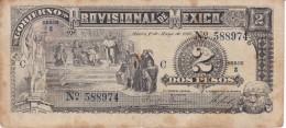 BILLETE DE MEXICO DE 2 PESOS DEL GOBIERNO PROVISIONAL DEL AÑO 1916   (BANKNOTE) - Mexico
