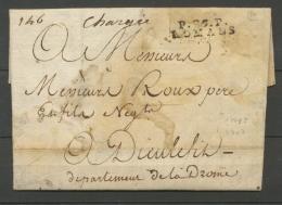 1792 Lettre Marque Linéaire P25P Romans DROME(25) Indice 14 X2155 - 1701-1800: Precursori XVIII