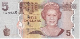 BILLETE DE FIJI DE 5 DOLLARS DEL AÑO 2007 SIN CIRCULAR-UNCIRCULATED  (BANKNOTE) IGUANA - Fiji